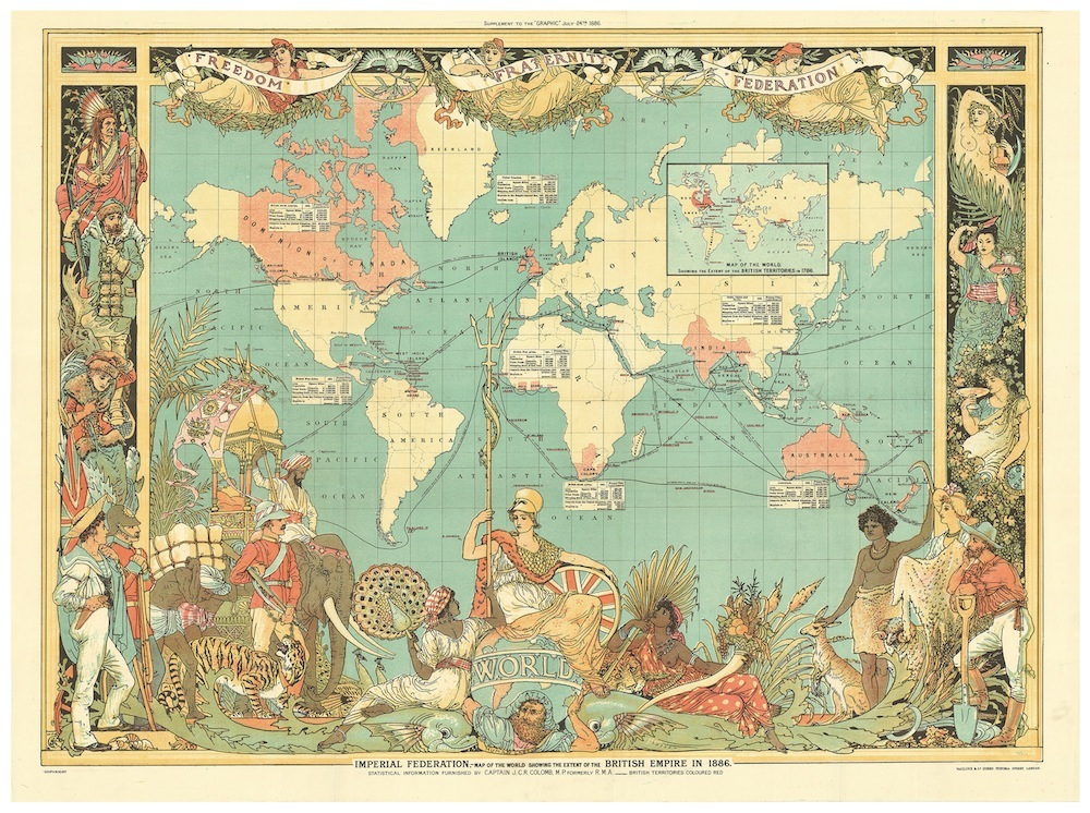 British Empire map illustration