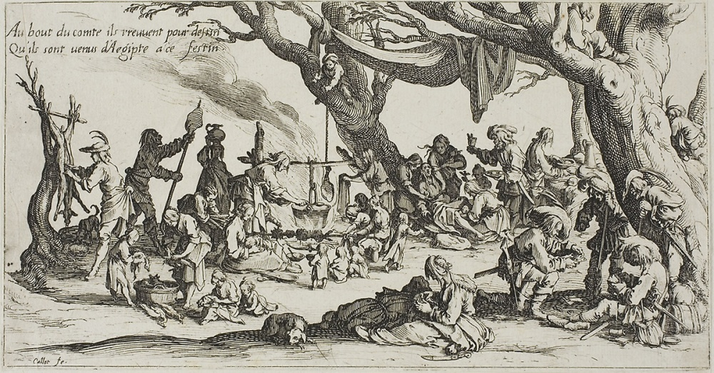 "Jacques Callot's ""Camping Place of the Gypsies: The Preparation of the Feast"""